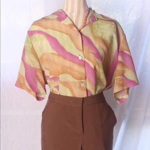 "VTG ""Fancy Lady"" Abstract Artsy Shirt"